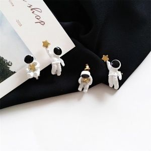 Asymmetrical Astronaut Earrings